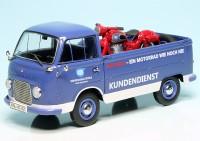 """Ford Taunus Transit FK 1000 Pritschenwagen mit Piccolo NSU Max """"NSU Kundendienst"""""""