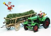 """Deutz F3 M 417 Traktor (1942-1953) mit Leiterwagen """"Schuco Christmas Special 2020"""""""