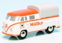 "Piccolo VW T1 Bulli Doppelkabine/Pritsche/Plane ""Müller"""