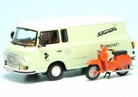 """Barkas B 1000 Kastenwagen mit Piccolo Simson KR 51/1 Schwalbe """"IFA Service Simson Werkstatt"""""""