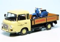 """Barkas B 1000 Pritschenwagen mit Piccolo Simson KR 51/1 Schwalbe """"Simson Kundendienst"""""""