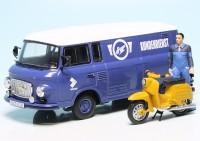 """Barkas B 1000 Kastenwagen mit Piccolo Simson KR 51/1 Schwalbe """"Simson Kundendienst"""""""