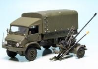 """Mercedes Benz Unimog U 404 S Pritsche/Plane mit L-Flab54 """"Schweizer Armee"""""""