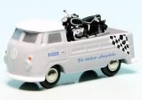 """Piccolo VW T1 Bulli Pritschenwagen mit BMW Motorrad """"Boxer Motorrad Service"""""""