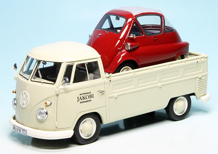 vw t1 bulli pritschenwagen mit bmw isetta 250 standard. Black Bedroom Furniture Sets. Home Design Ideas