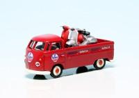 """VW T1 Bulli Pritschenwagen mit zwei Vespa Roller """"Servizio Vespa"""""""