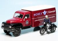 """Hanomag L28 mit Kofferaufbau und Horex Regina """"Horex-Motorräder"""""""