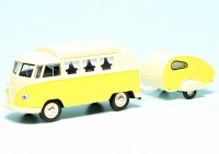 VW T1 Bulli Westfalia Camping-Bus mit ES-Piccolo Wohnwagen (1963)