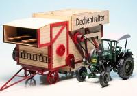 """Lanz Ackerluftbulldog D9506 (1945-1955) mit Ködel & Böhm Dreschmaschine """"Dechentreiter"""""""