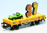 "Piccolo VW Beach Buggy / Märklin Low Side Car Kklm 505 ""Happy Birthday"""