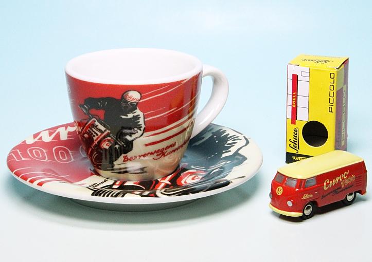 piccolo vw t1 bulli kastenwagen mit espresso tasse schuco. Black Bedroom Furniture Sets. Home Design Ideas