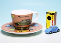 "Piccolo VW Käfer mit Espresso-Tasse ""Micro Racer"""