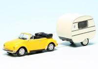 VW Käfer Cabriolet mit Knaus Schwalbennest Wohnwagen